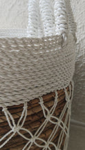 Load and play video in Gallery viewer, WHITE MACRAME BASKET LARGE