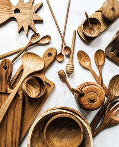 TEAK WOOD COOKING  SPOON