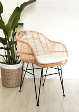Load image into Gallery viewer, BUCKET SEAT RATTAN CHAIR WITH CUSHION