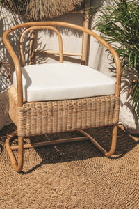 UBUD NATURAL RATTAN LOUNGE CHAIR