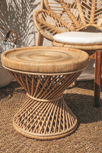 Load image into Gallery viewer, RATTAN SWIRL SIDE TABLE