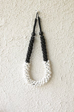 Load image into Gallery viewer, WHITE SHELL AND BLACK WOOD NECKLACE