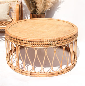 CANE ROUND COFFEE TABLE LARGE