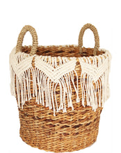 Load image into Gallery viewer, MACRAME BASKET MEDIUM
