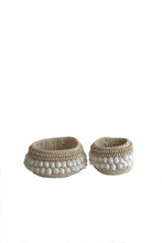 Load image into Gallery viewer, SHELL DECOR BASKET SET 2