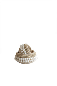 SHELL DECOR BASKET SET 2