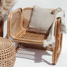 Load image into Gallery viewer, NATURAL CANE AND RATTAN LOUNGE CHAIR