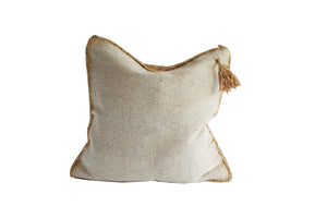 NATURAL WATER HYACINTH CUSHION COVER 60x60
