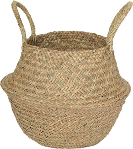 NATURAL SEAGRASS WOVEN BASKET LARGE