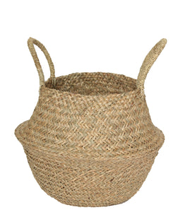 NATURAL SEAGRASS WOVEN BASKET MEDIUM