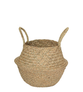 NATURAL SEAGRASS WOVEN BASKET SMALL