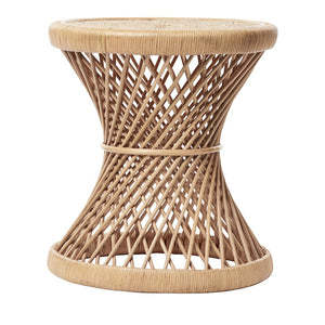 RATTAN SWIRL SIDE TABLE
