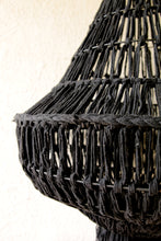 Load image into Gallery viewer, BLACK COTTON MACRAME CEILING LAMP SHADE