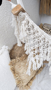 NATURAL COTTON MACRAME HAMMOCK