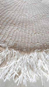 WHITE WATER HYACINTH GRASS RUG 260cm