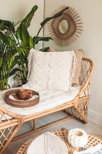 NATURAL RATTAN DAY BED  WITH MATTRESS