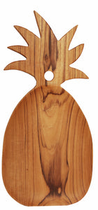 TEAK WOOD PINEAPPLE BOARD LARGE