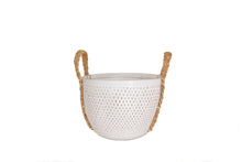 Load image into Gallery viewer, WHITE  BAMBOO BASKET  SMALL