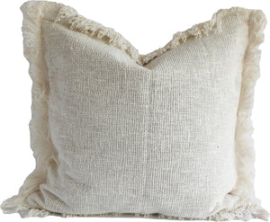 WHITE RAW COTTON CUSHION COVER 50X50