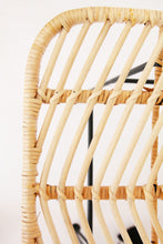 Load image into Gallery viewer, WOVEN RATTAN CHAIR WITH CUSHION