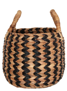ZIG ZAG WATER HYACINTH BASKET LARGE