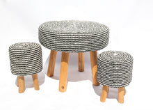 Load image into Gallery viewer, WOVEN RATTAN ROUND GARDEN SET 4+1