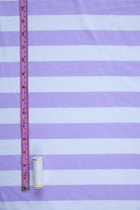 Tilly and the Buttons Lilac Stripe Organic Cotton Jersey Knit Fabric. By the half metre.