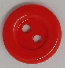 Load image into Gallery viewer, Carsini Italian Shiny Plastic Buttons x 10pcs 2 HOLE 15mm- Cardigan