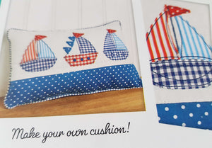 Boat Cushion Sewing Kit: Adults fabric DIY make your own cushion craft kit. By DoCrafts Simply Make