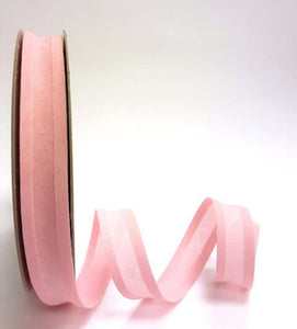 Solid plain cotton bias binding tape: 25 mm (1 in) wide trim, per metre. Various colours