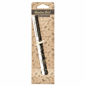 2 x Hemline Gold premium water-soluble fabric pencils. Grey and white.