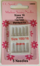 Load image into Gallery viewer, Sewing Machine Needles: various packs of 5. Universal fine, medium, heavy, assorted, jeans