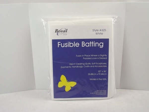 "Bosal Batting Wadding: light fusible and sew-in 45"" x 36"", fusible 22"" x 36"". #425/426"