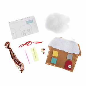 Make your own hanging felt / crochet Christmas decoration kit - Kids Crafts Sewing
