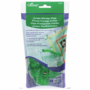 Jumbo Wonder Clips Assortment by Clover (Pack of 10) for sewing, overlocking and crafting.