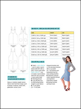 Load image into Gallery viewer, Tilly and the Buttons Cleo Dungarees Dress sewing pattern. Easy basic pattern.