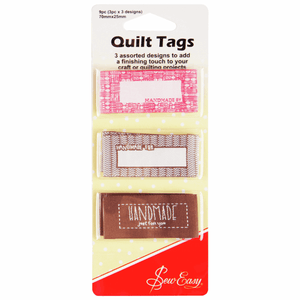 Quilt Sewing Tags Clothing labels handmade for/quilted for/ with love slogan