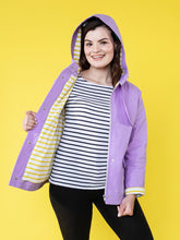 Load image into Gallery viewer, Tilly and the Buttons Eden raincoat waterproof coat sewing pattern. Easy to follow.