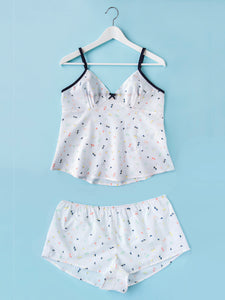 Tilly and the Buttons Fifi camisole and shorts set sewing pattern. Easy summer pyjamas.