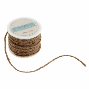 Jute string: natural 2 mm. Christmas, bunting, macramé, crafts. 20m roll