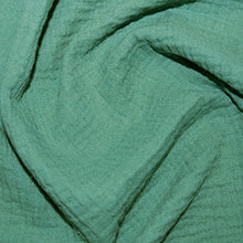 Load image into Gallery viewer, Solid Plain GOTS organic double gauze muslin 100% cotton fabric. Various colours.