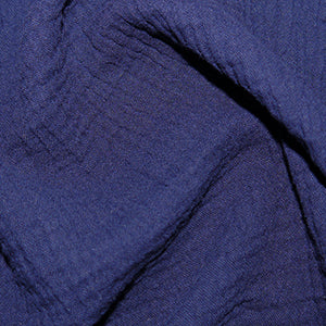 Solid Plain GOTS organic double gauze muslin 100% cotton fabric. Various colours.