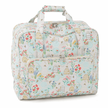 Load image into Gallery viewer, Sewing Machine Bag: Vintage floral, black/turquoise, polkadot, Red. Fit most Machines.