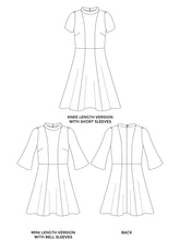 Load image into Gallery viewer, Tilly and the Buttons Martha dress sewing pattern. Easy casual dress pattern.