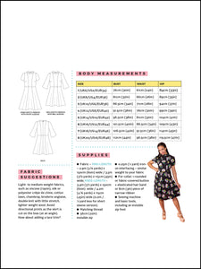 Tilly and the Buttons Martha dress sewing pattern. Easy casual dress pattern.