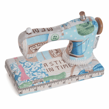 Load image into Gallery viewer, Vintage Sewing Machine Pin Cushion. Great novelty pincushion gift.