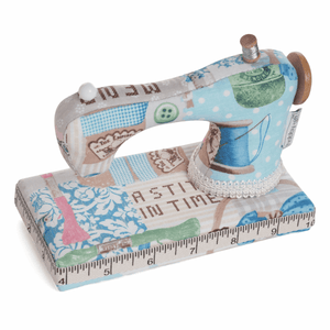 Vintage Sewing Machine Pin Cushion. Great novelty pincushion gift.