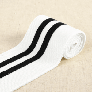 Double Stripe Cuffing By Stephanoise. 8.5 cm x 1.2 m: For cuffs and waistbands.