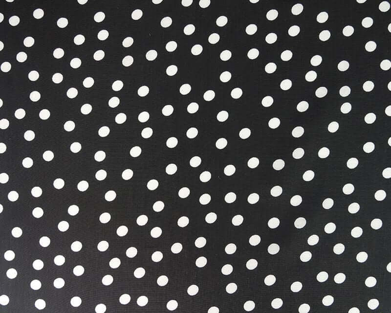 Black and White Polkadot Peachskin Dress Fabric  by the half metre.