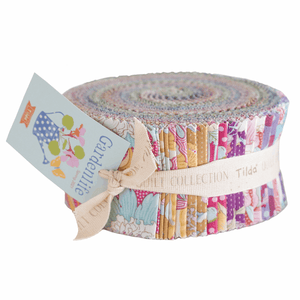 "Gardenlife Fabric Roll 40 ea 2.5"" by 120 cm fabric strips fabrics by Tilda. Floral craft cotton quilting fabrics. PREORDER"